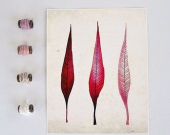 Pink Ombre Feathers Print
