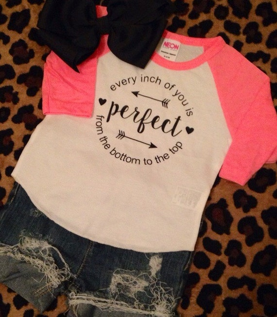newborn easter photo ideas - Items similar to Every inch of you is perfect raglan pink