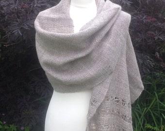 Handwoven alpaca/silk/cashmere wrap