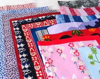Kyoto japanese Furoshiki wrapping cloth set of 2 traditional japan vintage antique pattern fu-001246891019