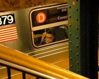 New York City Print, D Train Dreams, NYC Subway, Subway Art,  NYC Wall Art, Fine Art Photography by Deborah Julian