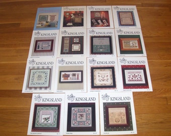 Vintage KINGSLAND Cross Stitch Patterns 25 plus Variety