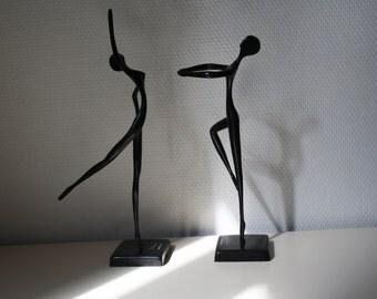 Dancers bronze statuettes of designer Bodrul Khalique