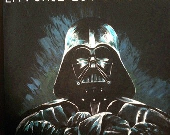 Painting on canvas of Darth Vader - StarWars - Lucas Film - 1 m x 1 m
