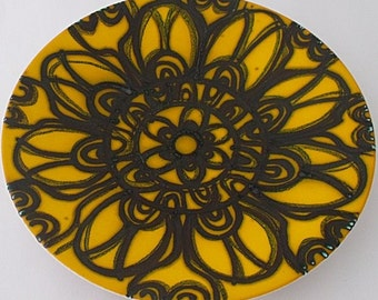 Poole Pottery Shape 4 Delphis Dish With Abstract Design - 1960's / 1970's