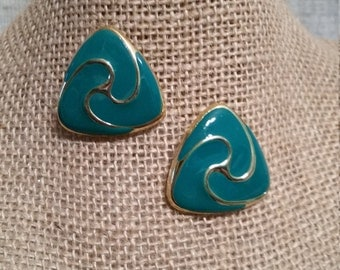 Vintage Turquoise Triangle Post Earrings