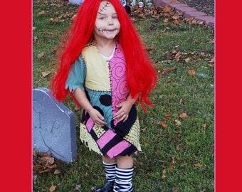 Custom Made Child Toddler Sally Stitches Nightmare Before Christmas Halloween Costume Dress
