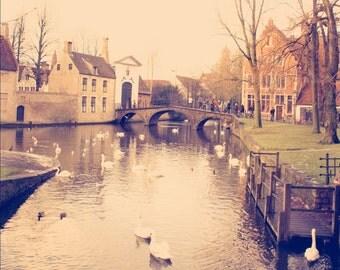 Wanderlust Calling Fine Art Print Travel Bruges Belgium Europe Color