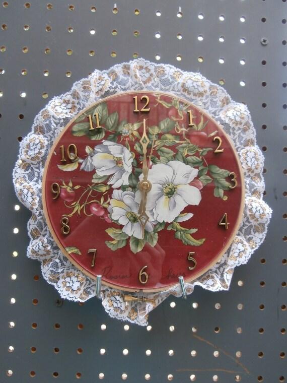 Embroidery hoop clock by gggsthings on etsy