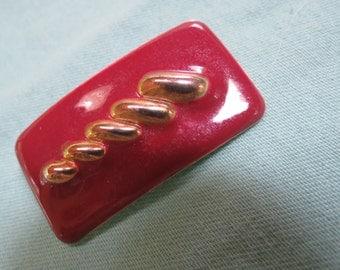 Maroon Metal Pin