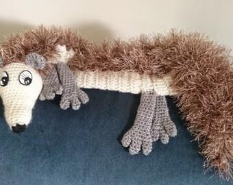 Woodland Animal Scarf In Crochet