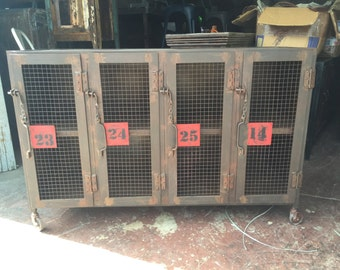 Industrial iron cabinet/locker