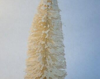 9 inch tall White Bottle brush tree