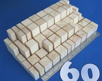 LOT 60 natural wooden building blocks bricks cubes bundle set pine wood ECO TOYS