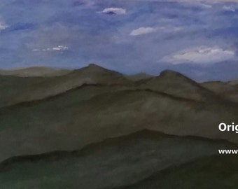 North Carolina Mountains Painting original canvas