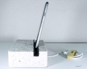 Marmor Stein Docking Andockstation Ladestation iPhone 6 / iPad Marmor Harz Pigmente Wollfilz Gummi Liebe
