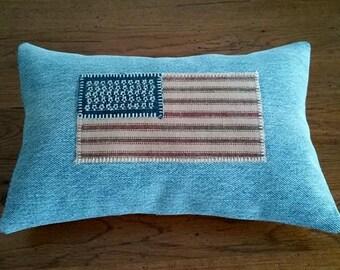 Patriotic American Flag Pillow