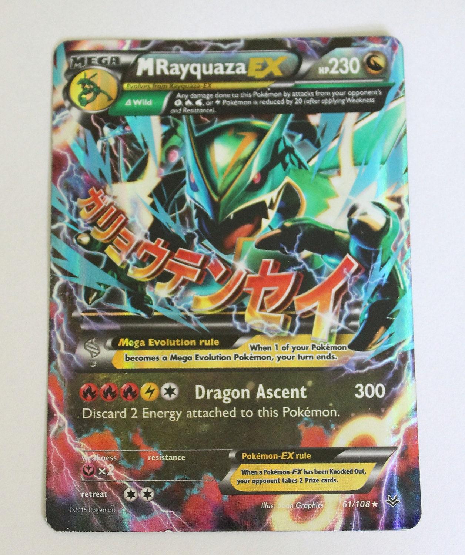 Mega Pokemon M RAYQUAZA EX Card Roaring Skies Set by ...
