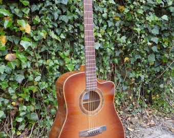 Amazon Rosewood guitar made by luthier Ike Wilhelm of Exquisite Woodworking