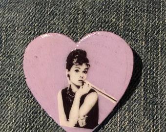 Audrey Hepburn Breakfast at Tiffany's Pin