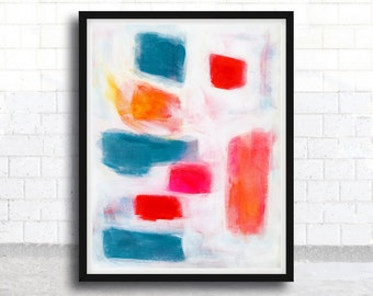 ABSTRACT painting, giclee, abstract giclee, fine art print, colorfull painting, red, modern painting, giclee art print, acrylic painting