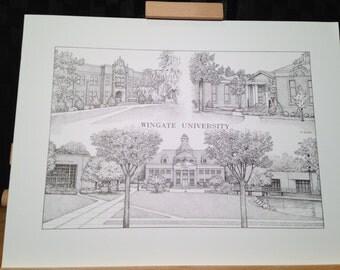 Wingate University 12x16 collage print