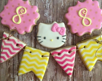 Kitty Birthday Sugar Cookie Set