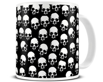 Skull Heads Coffee Mug - skull gifts - MG107