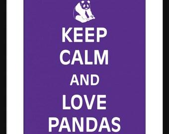 Keep Calm and Love Pandas - Pandas - Art Print - Keep Calm Art Prints - Posters