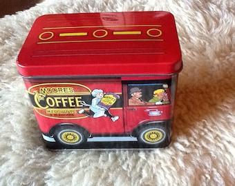 Moores Coffee Merchant Tin Vintage 1991