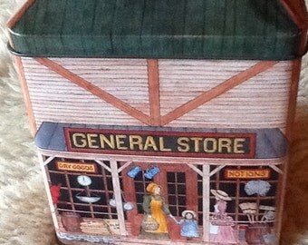 Vintage Collectible General Store Hinged Tinsmith's Craft tin