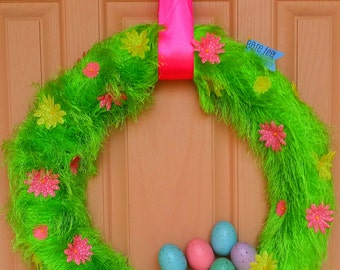 Bare Feet Welcome Spring Wreath