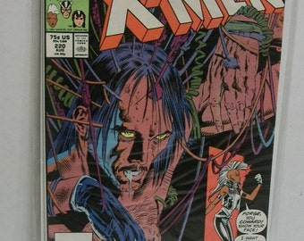 Vintage 1987 Marvel Comics Uncanny X-Men #220 Vol 1 Storm and Forge Chris Claremont/Mark Silvestri  Vf-NM Comic Book