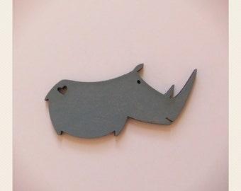 Beloved Rhino Brooch