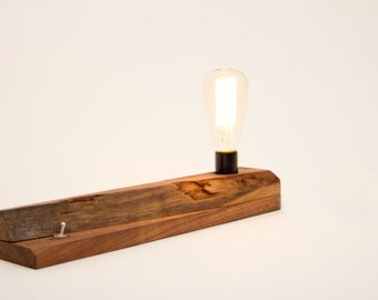 Rough Walnut Edison Lamp