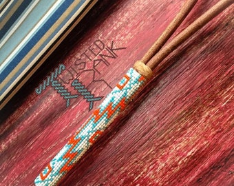 Aztec Beaded Over and Under Strap