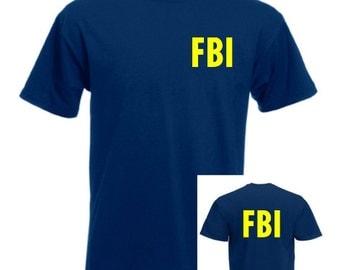 FBI Navy Mens/Adult Novelty Tshirt - Novelty/Funny/Fancy Dress/Party/Gify