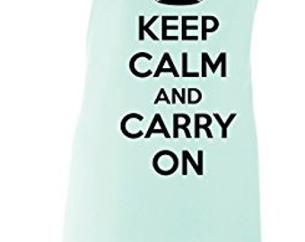 Keep Calm And Carry On Adult Novelty Apron - Various Colours Available.