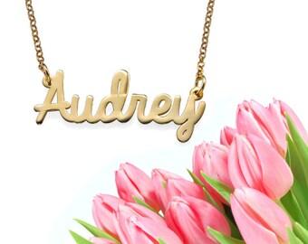 Cursive Name Necklace (gold)