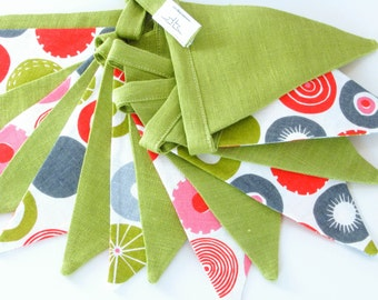 Fabric Flag Banner / Pennant / Bunting / Green