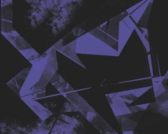Art print - Jagged Purple