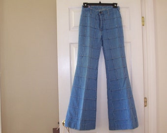 Vintage 70's Brittania Bell Bottom patchwork jeans