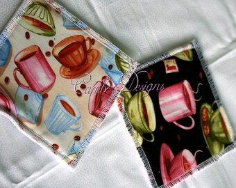 Cafe Reversible Coffee Coaster