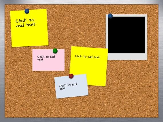 bulletin board template word - cork board presentation background theme template