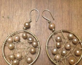 Beaded vintage earrings