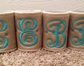 Coozie, monogrammed with Initial
