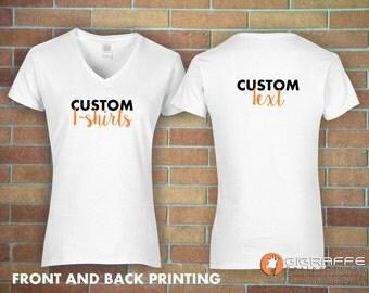 Custom t-shirt printing / Custom t-shirt front and back