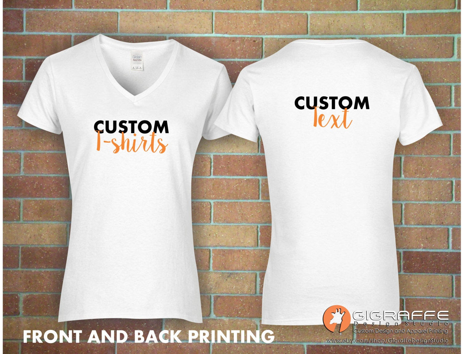 custom v neck t shirt printing custom t shirt design