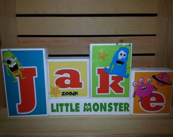 Personalized Name Blocks. Custom Wood Blocks. Boy's Name Blocks