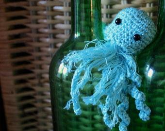 Mini crochet amigurumi jellyfish - Toy Jellyfish - Crochet Jellyfish - Made to Order Jellyfish - Crochet Toy - Amigurumi Toy